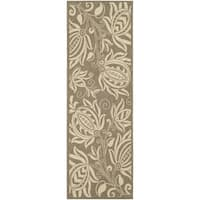 "Safavieh Andros Brown/ Natural Indoor/ Outdoor Runner Rug (2'2 x 12') - 2'2"" x 12'"