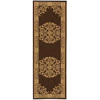 Safavieh Sunny Medallion Chocolate/ Natural Indoor/ Outdoor Rug - 2'2 x 14'