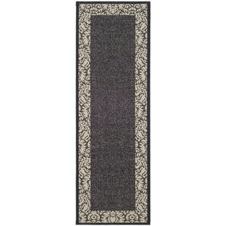 Safavieh Kaii Damask Black Sand Indoor Outdoor Rug 2 X