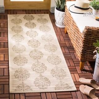 Safavieh Natural/ Brown Indoor Outdoor Rug (2'4 x 9'11)