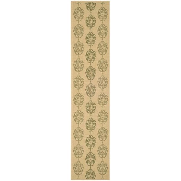 Safavieh Natural/ Olive Indoor Outdoor Rug (2'2 x 12')