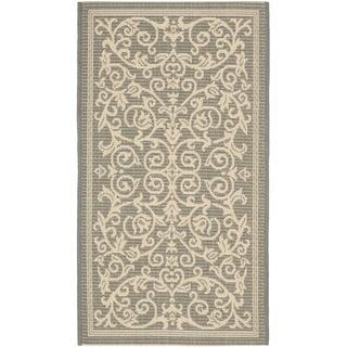 Safavieh Grey/ Natural Indoor Outdoor Rug (2' x 3'7)
