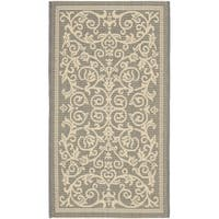 Safavieh Resorts Scrollwork Grey/ Natural Indoor/ Outdoor Rug - 2' x 3'7