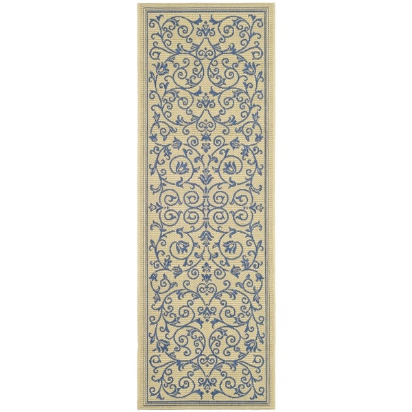 Safavieh Natural/ Blue Indoor/ Outdo