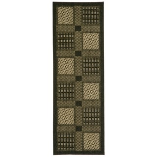 Safavieh Lakeview Black/ Sand Indoor/ Outdoor Rug (2'2 x 12')