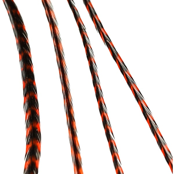 Donna Bella Striped Orange Feather Hair Extensions
