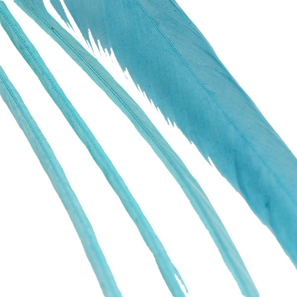 Donna Bella Solid Teal Feather Hair Extensions