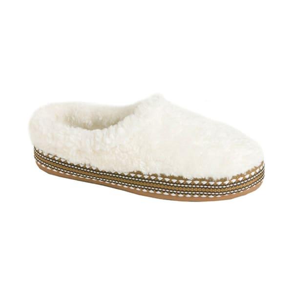 Woolrich Women's 'Whitecap' Cream Fleece Clog Slippers