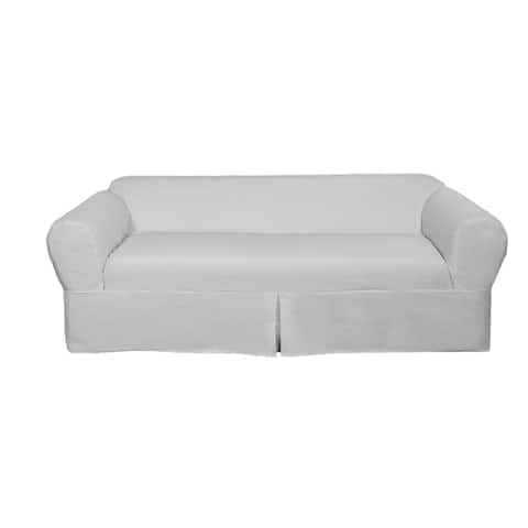 Classic 2-piece Cotton Twill Loveseat Slipcover