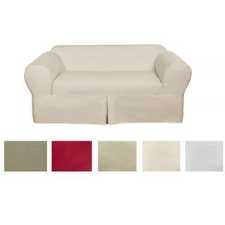 Classic 2-piece Cotton Twill Loveseat Slipcover