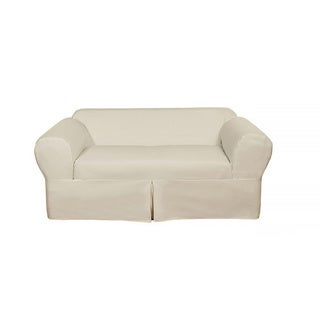 Classic 2-piece Cotton Twill Loveseat Slipcover (5 options available)