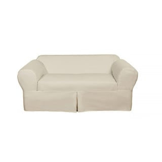 classic 2piece cotton twill loveseat slipcover