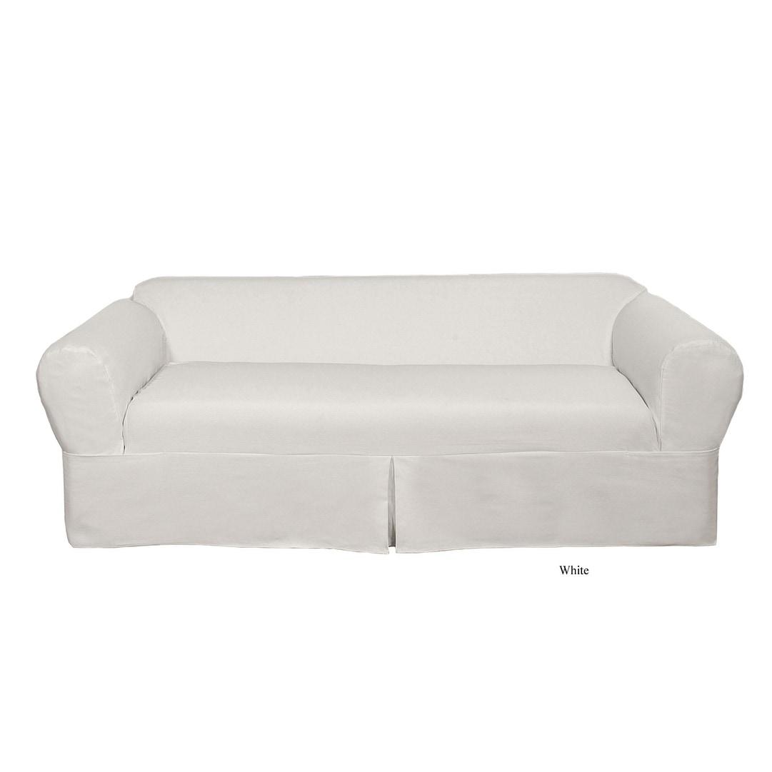 2 Piece Twill Sofa Slipcover