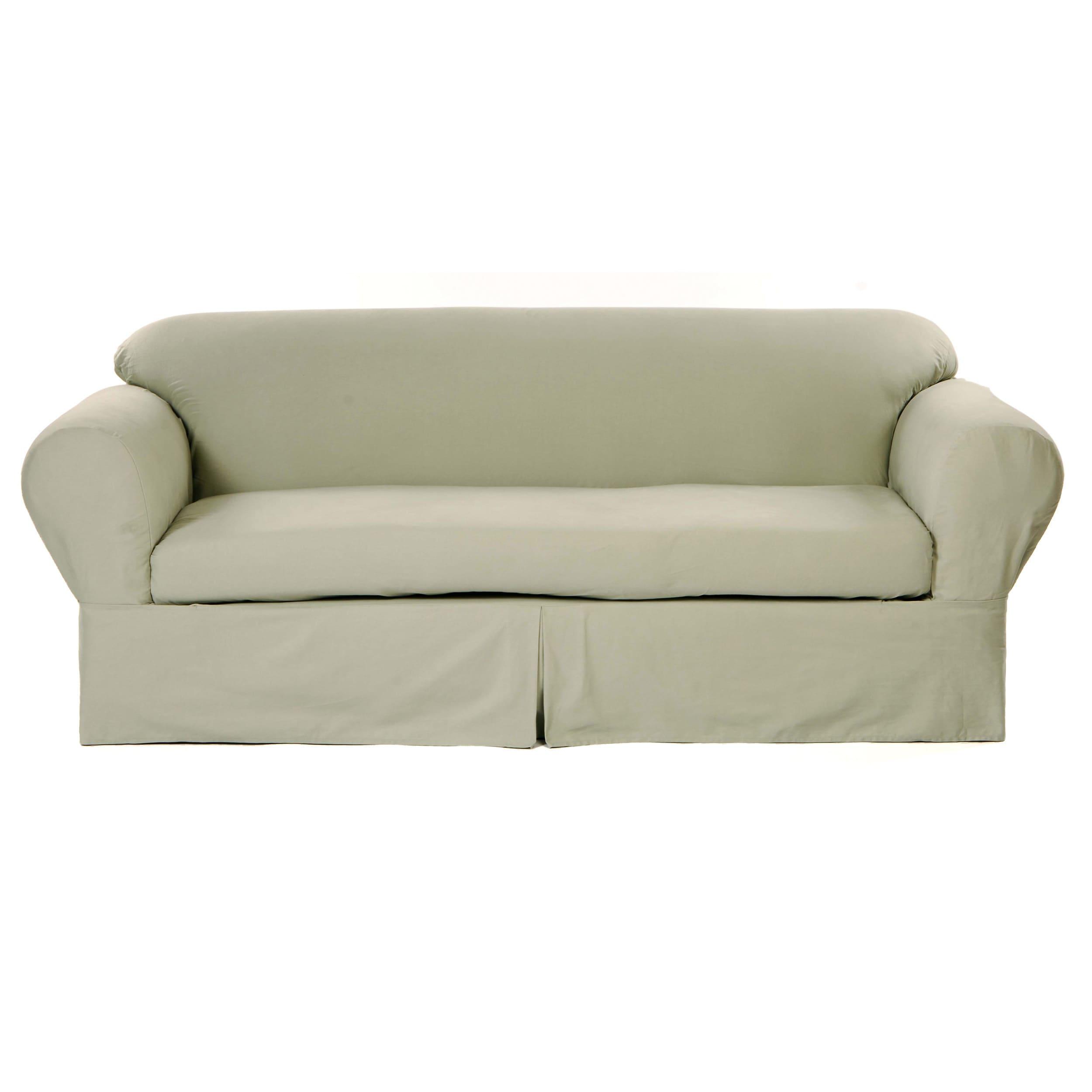 Clic Slipcovers 2 Piece Twill Sofa Slipcover