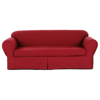 Classic 2-piece Twill Sofa Slipcover (3 options available)