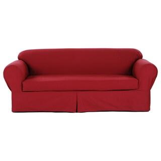 Classic Slipcovers 2-piece Twill Sofa Slipcover