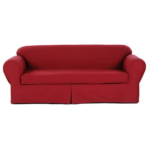 Buy Red Sofa & Couch Slipcovers Online at Overstock | Our Best ...