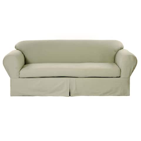 Classic Slipcovers 2-piece Twill Sofa Slipcover