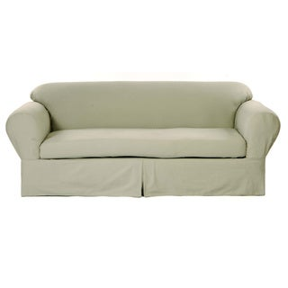 Classic Two-piece Twill Sofa Slipcover