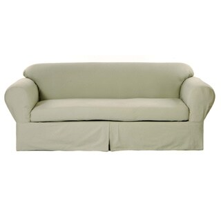 Amazing Classic Slipcovers 2 Piece Twill Sofa Slipcover