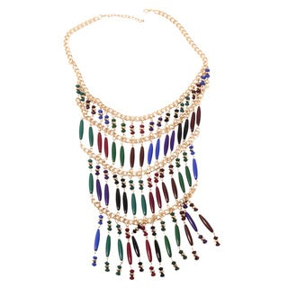 NEXTE Jewelry Multi Color Beaded Rani Bib Necklace
