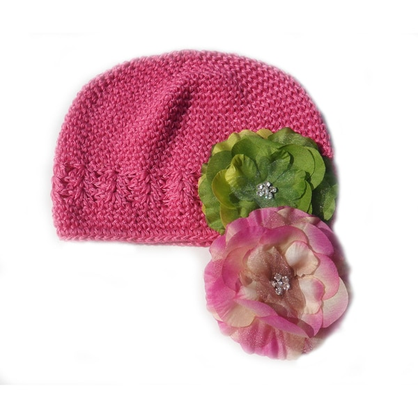 Boutique 3-Piece Crochet Flower Hat Gift Set