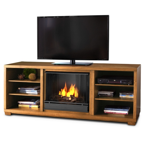 Marco Real Flame Walnut Gel Fuel Fireplace
