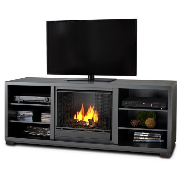 Marco Real Flame Black Gel Fuel Fireplace
