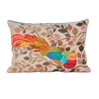 Marlo Lorenz Petra Peacock 20 Inch Decorative Pillow
