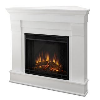 Real Flame Chateau White 40.94 in. L x 25.28 in. W x 37.6 in. H Electric Corner Fireplace
