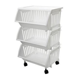 Homz Three Tier Mobile Cart