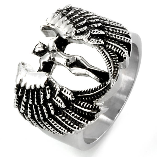 West Coast Jewelry Stainless Steel Archangel Goddess Ring