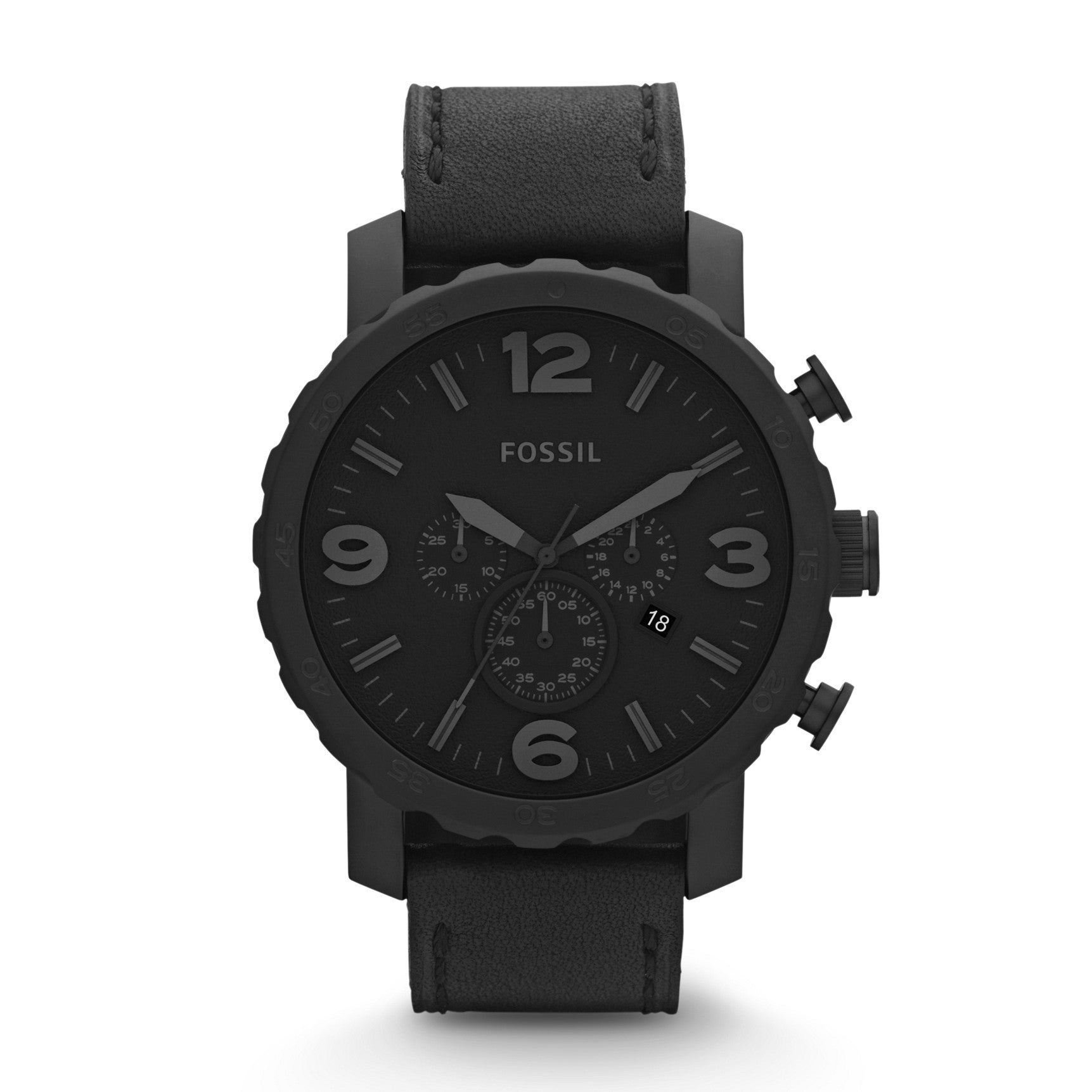 Fossil Men's JR1354 'Classic' Black Stainless Steel Watch...