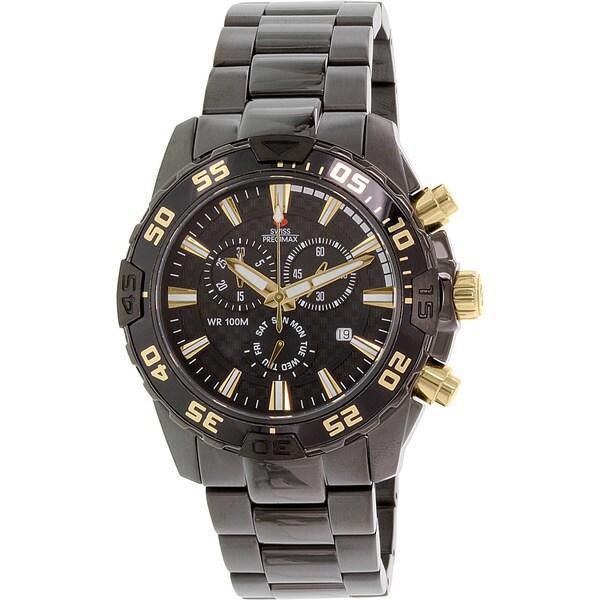 Swiss Precimax Men's Black Formula-7 Pro Chronograph Watch