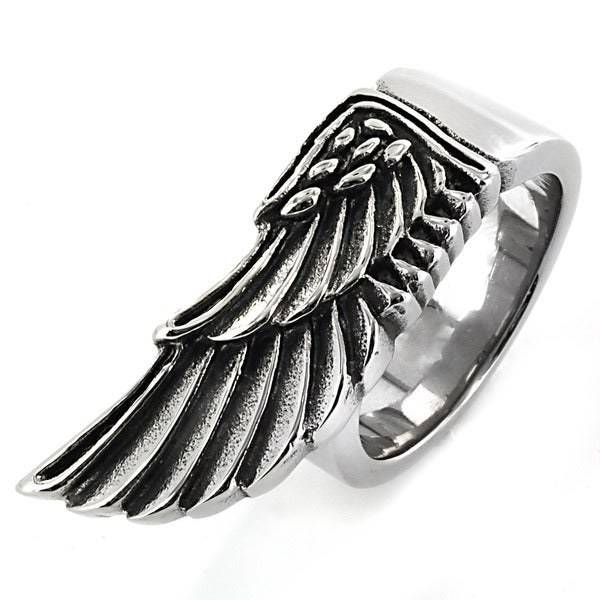 West Coast Jewelry Stainless Steel Egyptian Wing Ring