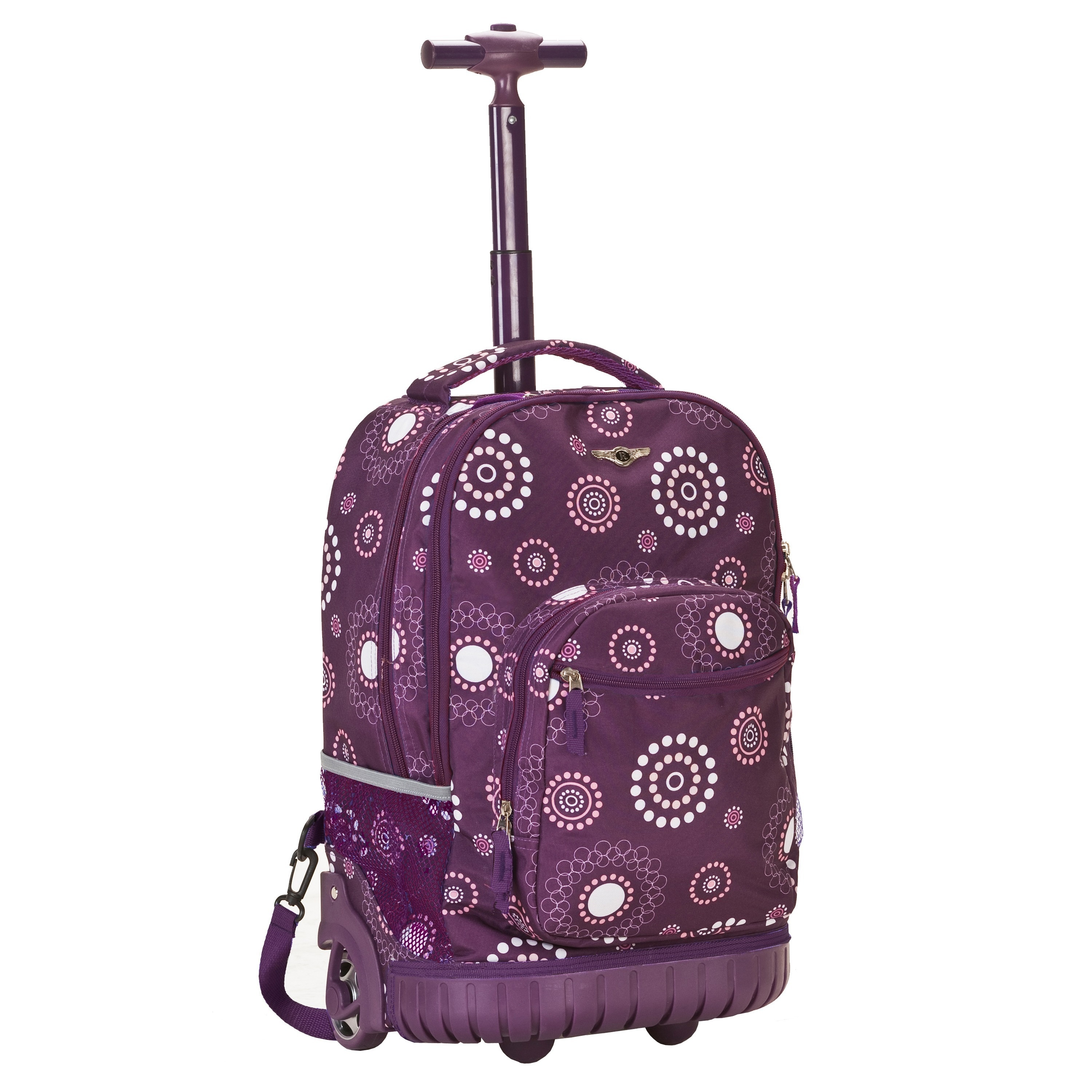 Rockland Deluxe Purple Pearl 18-inch Rolling Laptop Backp...