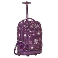 Rockland Deluxe Purple Pearl 18-inch Rolling Laptop Backpack