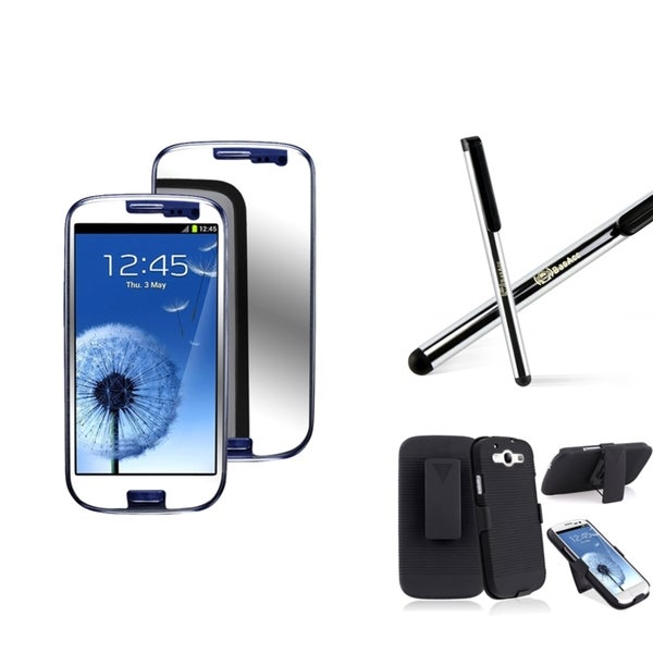 INSTEN Stylus/ Holster/ LCD Protector for Samsung Galaxy S3/ S III