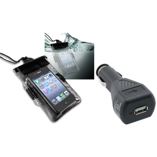 INSTEN Black Bag/ Car Charger for Motorola Droid Razr Maxx