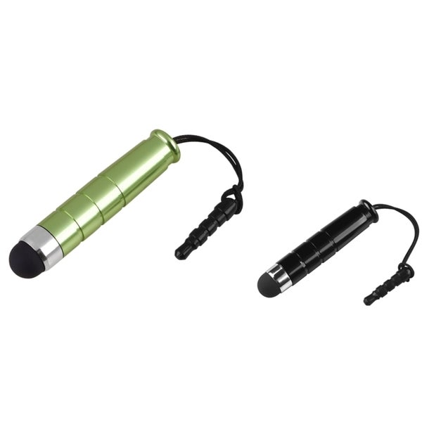 BasAcc Black/ Green Mini Stylus for Samsung Galaxy S III/ S3 (Pack of 2)