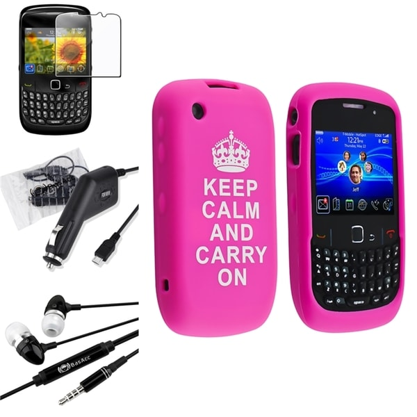 BasAcc Case/ Protector/ Charger/ Headset for BlackBerry Curve 8520