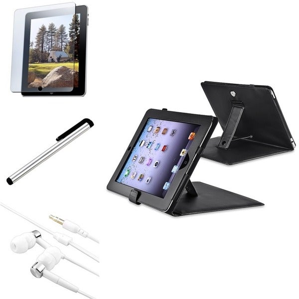 INSTEN Tablet Case Cover/ Stylus/ Headset/ LCD Protector for Apple iPad 1