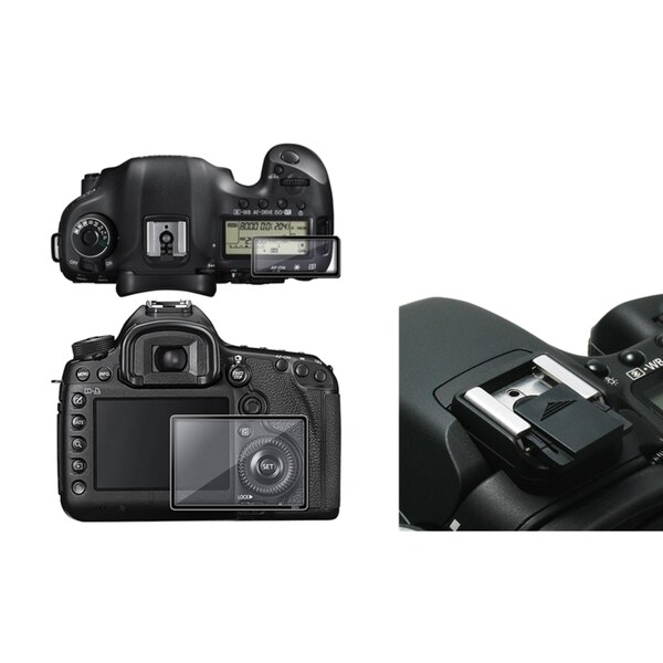 INSTEN Glass LCD Protector/ Hot Shoe Cover for Canon EOS 5D Mark III
