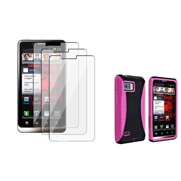 BasAcc Hybrid Case/ LCD Protector for Motorola Droid Bionic XT875