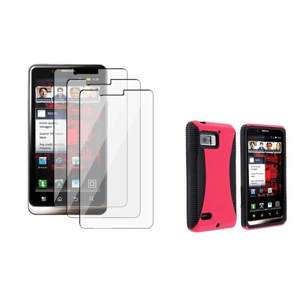 BasAcc Black/ Pink TPU Case/ Protector for Motorola Droid Bionic XT875