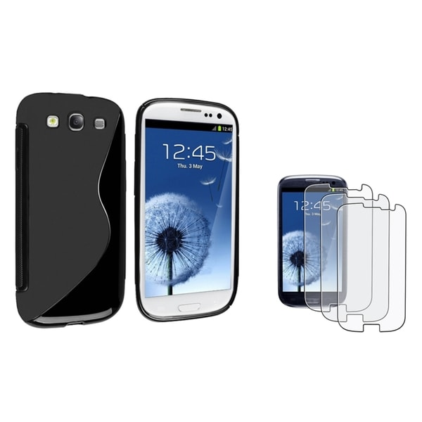 INSTEN TPU Phone Case Cover/ Anti-glare LCD Protector for Samsung Galaxy S3/ S III