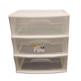 Homz Large White 3-drawer Cart