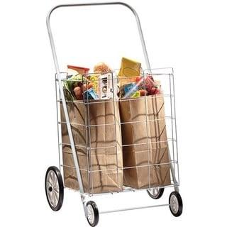Homz 4-wheel Large Capacity Tote Cart