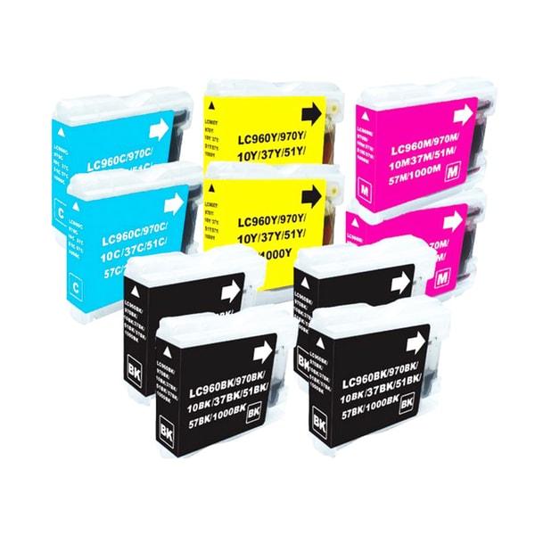 Brother LC51 Compatible Black/Color Ink Cartridges (Set of 10)