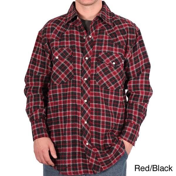 Farmall IH Men's Plaid Cotton Western Flannel Shirt